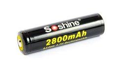 Аккумулятор Soshine 18650 3,7В 2800мАч защищенный, 1 шт.