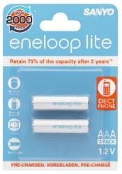 Аккумуляторы Eneloop Lite AAA (HR-4UQ), 2 шт.
