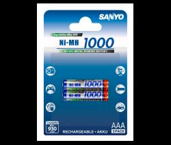 Аккумуляторы SANYO AAA (HR-4U) 1000 mAh, 2 шт.