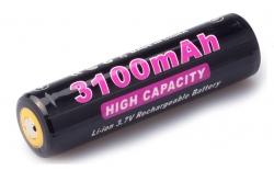 Аккумулятор Soshine 18650 3,7В 3100mAh защищенный, 1 шт.