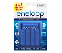 Аккумуляторы  Eneloop AAA в боксе (HR-4UTGB R03), 5 шт.
