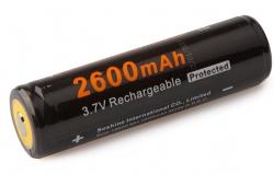 Аккумулятор Soshine 18650 3,7В 2600mAh защищенный, 1 шт.