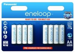 Аккумуляторы Eneloop AA (BK-3MCCE/8BE), 8 шт.