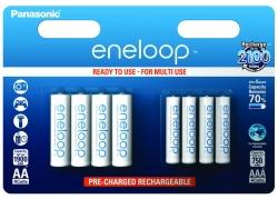 Аккумуляторы Eneloop AA и AAA (BK-KJMCCE44E), 8 шт.