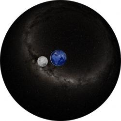 """Диск для планетария Homestar """"Земля и Луна ночью"""""""