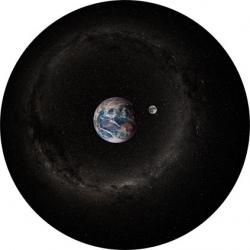"""Диск для планетария Homestar """"Земля и Луна днем"""""""