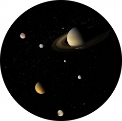 "Диск для планетария Eastcolight/Bresser ""Система Сатурна"""